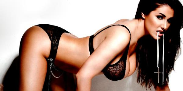 naughty woman enjoys teasing