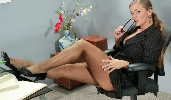 teasing office babe